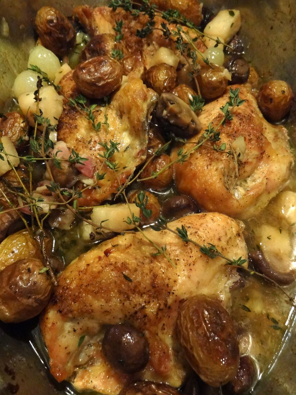 Scrumpdillyicious: Roast Chicken Grand-Mère with Celeriac & Thyme
