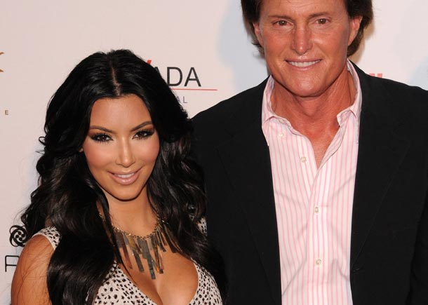 Kim Kardashian Poses With Caitlyn Jenner (Former Stepfather Bruce Jenner)