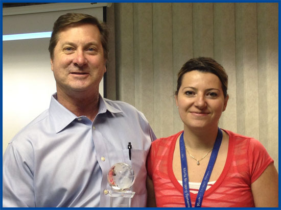Tom Brani with Priscille Tremblay, Director of sales