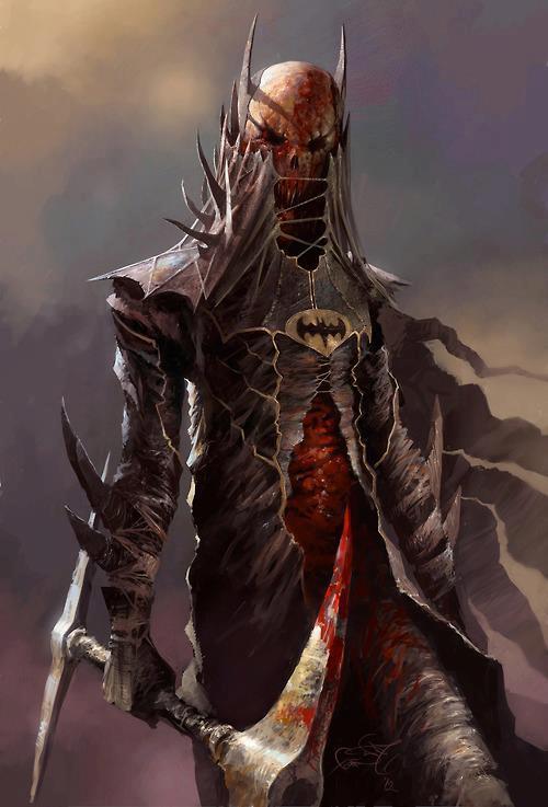 lich morte caveleiro das trevas arte batman
