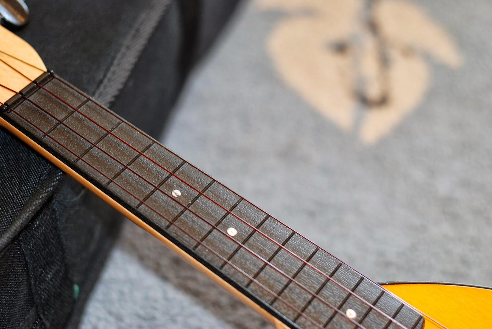 Schoenhut Oak Mahogany Ukulele fingerboard