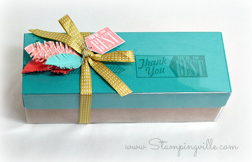 Tag a Bag Gift Box: Decorated and ready to give