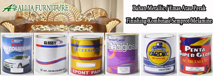 Bahan Emas & Perak Finishing Semprot Melamine