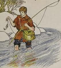 El pescador y el pez fabula para niños con moraleja de Samaniego