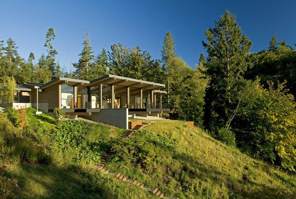 Diseño de interiores & arquitectura: casa reflejando el entorno en ...