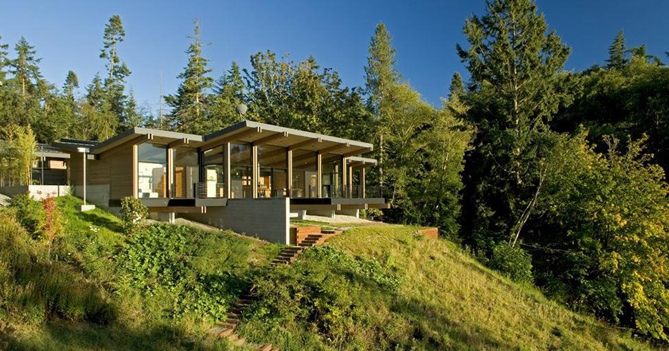 Dise o de interiores arquitectura casa reflejando el for Casas modernas en washington