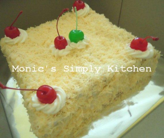 Cake dengan Taburan Keju