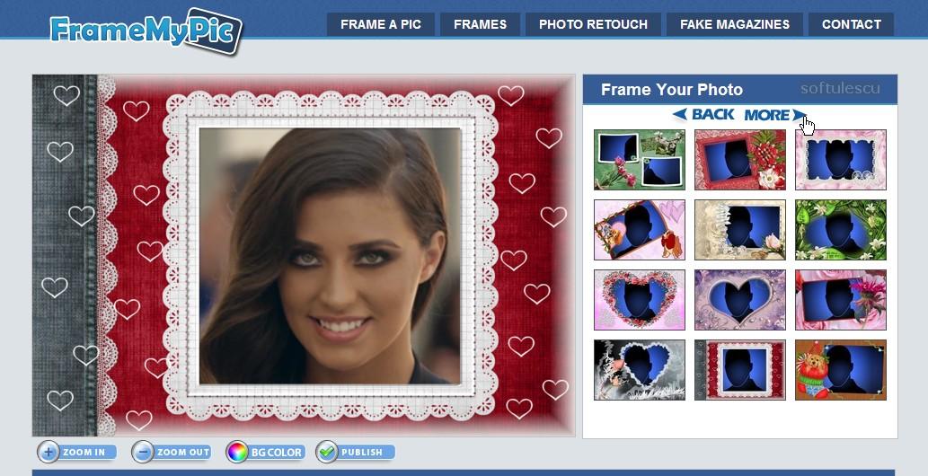 Adaugă diferite rame la poze online cu ajutorul site-ului FramemyPic.