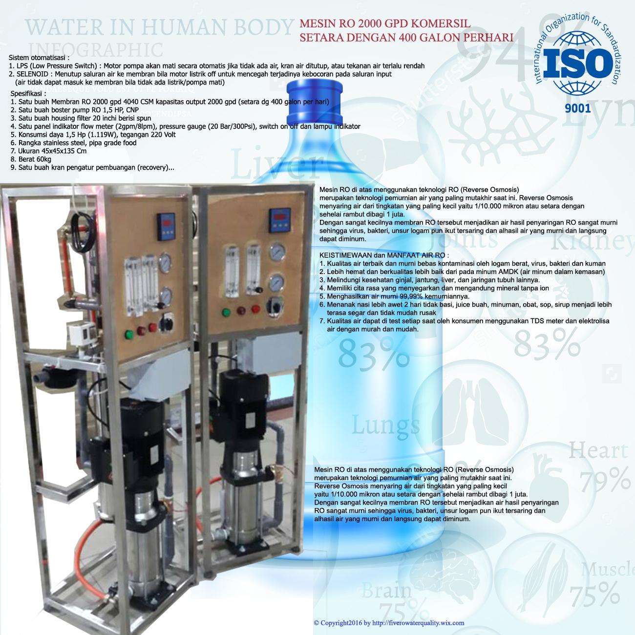 2000 gpd reverse osmosis komersil