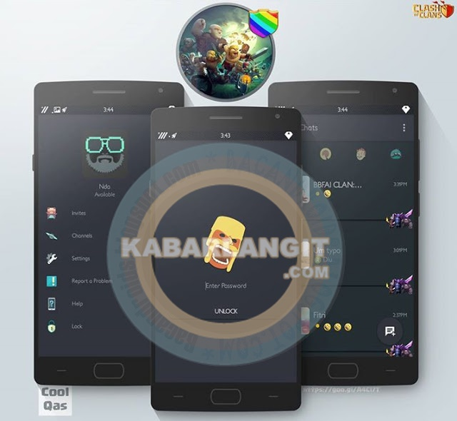 Download apk BBM Mod Thema Clash Of Clans Material Versi 2.10.0.35 Flat Terbaru