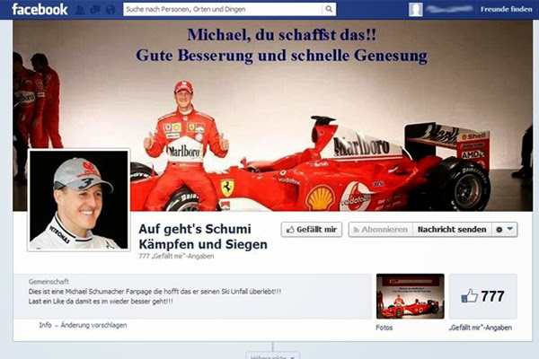 Schumi only removed a few Facebook Likes and # kaempfenschumi tweets from recovery