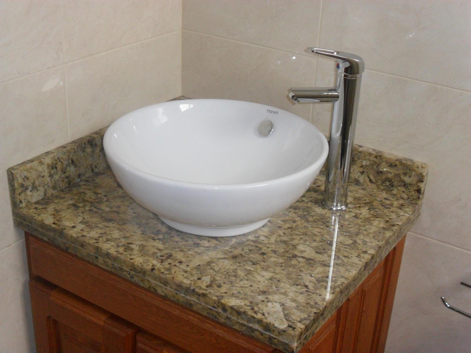 Dise o y arte la fuente mesones en granitos y marmoles for Lavamanos de marmol