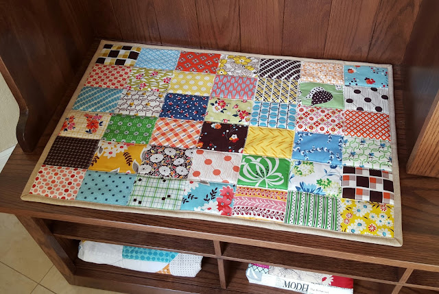 Denyse Schmidt Patchwork Bench Cushion by Heidi Staples of Fabric Mutt