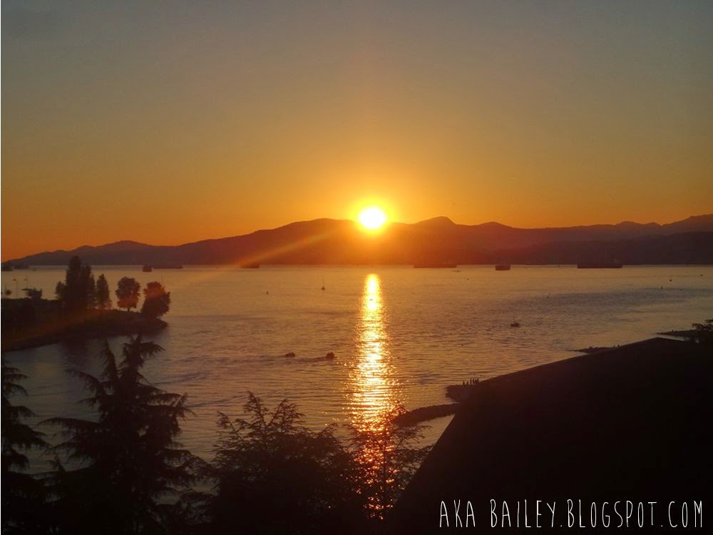 Sun setting in English Bay, Vancouver