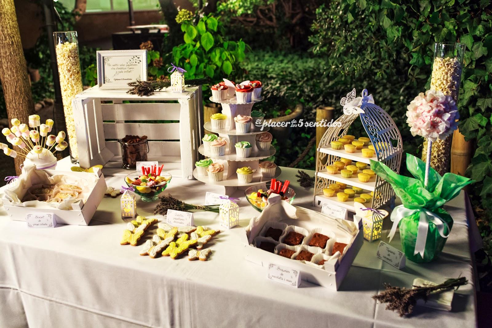 el placer de los cinco sentidos mesa de dulces para una boda