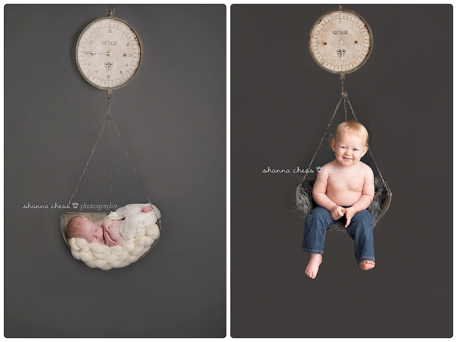eugene springfield oregon baby photography then and now 1 year old newborn