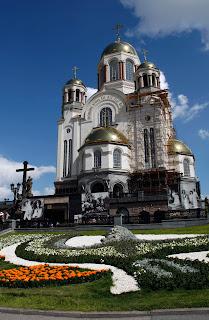 Iglesia en honor a la familia del zar en Ekaterimburgo, transiberiano 2015