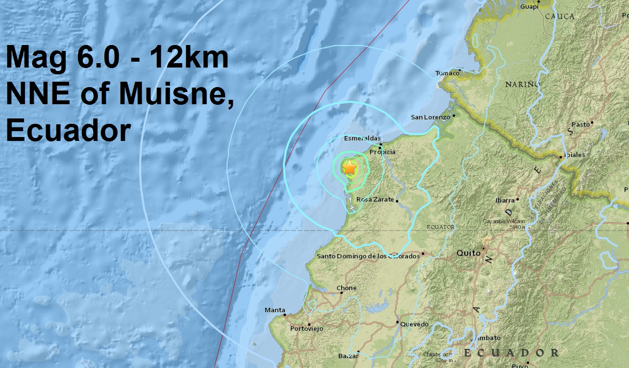 Ecuador suffers another major quake in the same area as Sundays deadly mag 7.8