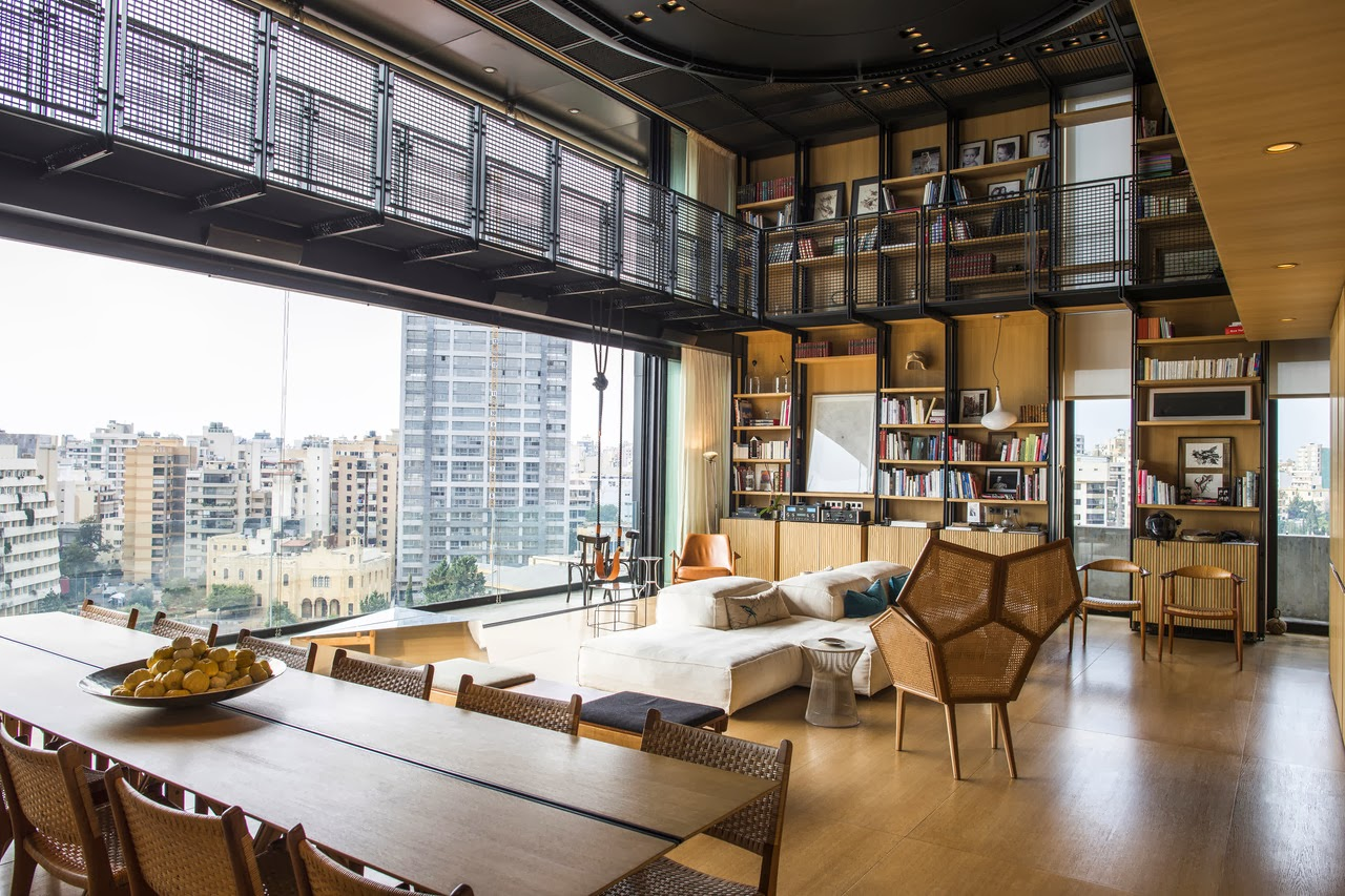 Inside bernard khoury 39 s new penthouse bananapook for Architecture japonaise moderne