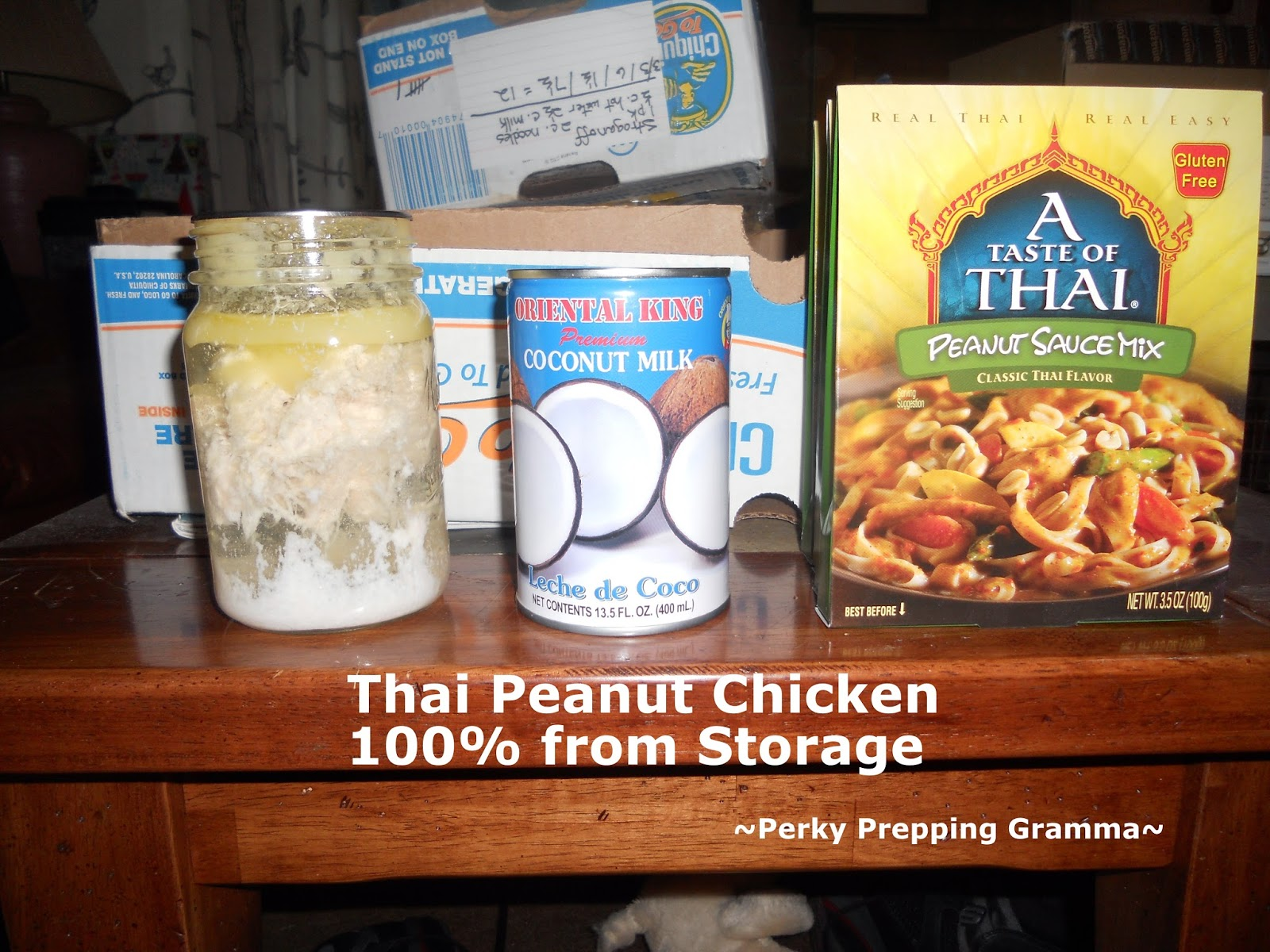 A Taste Of Thai Coconut Milk perky prepping gramma: 144 meals in a box (recipe 100% from storage)
