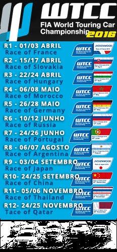 FIA-WTCC - Calendário