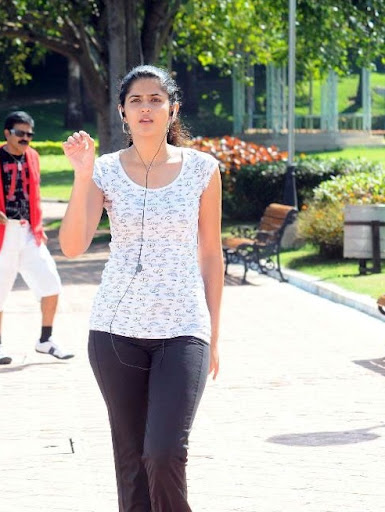 South Indian Actress Deeksha Seth Listening Music pics