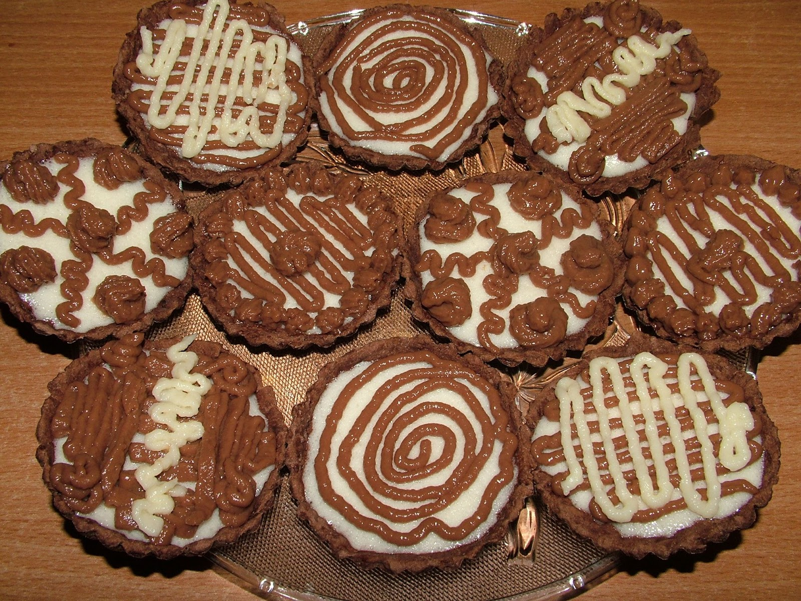 Tartaletki czekoladowo-waniliowe