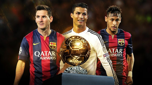 Three finalists the winner of the Ballon d'Or in 2015