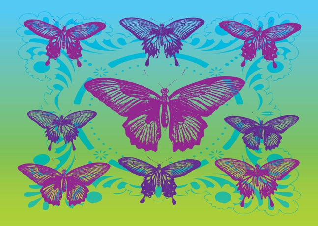 110 Free Butterflies Vector Art Graphics Download