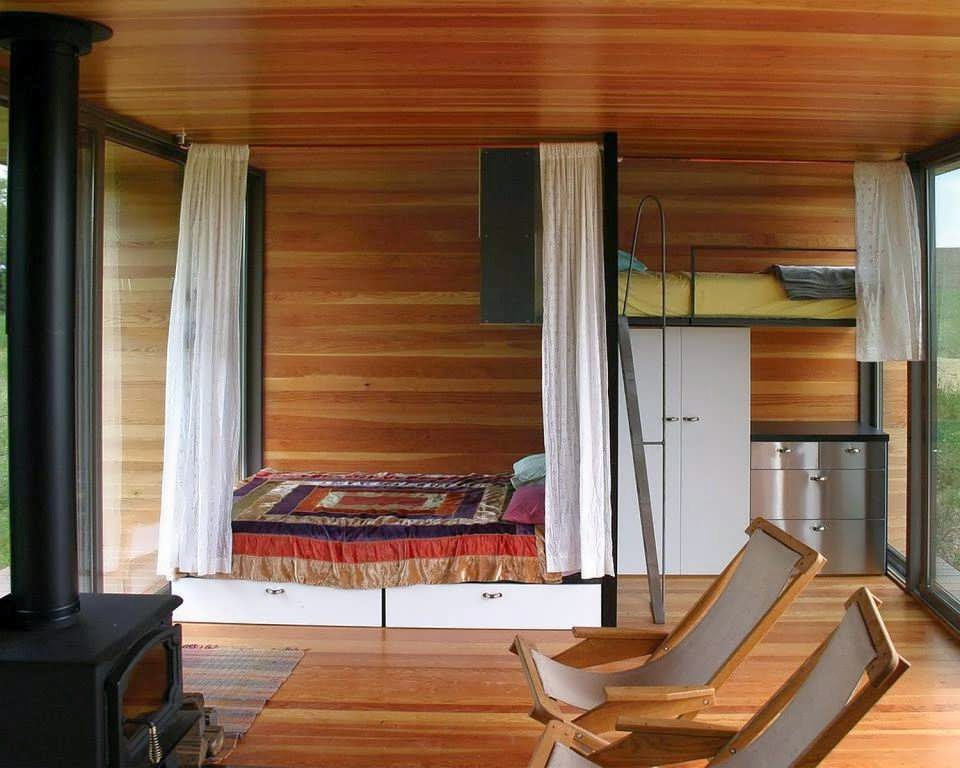 Cabin is like container minimalist house design with for Minimalist house wood