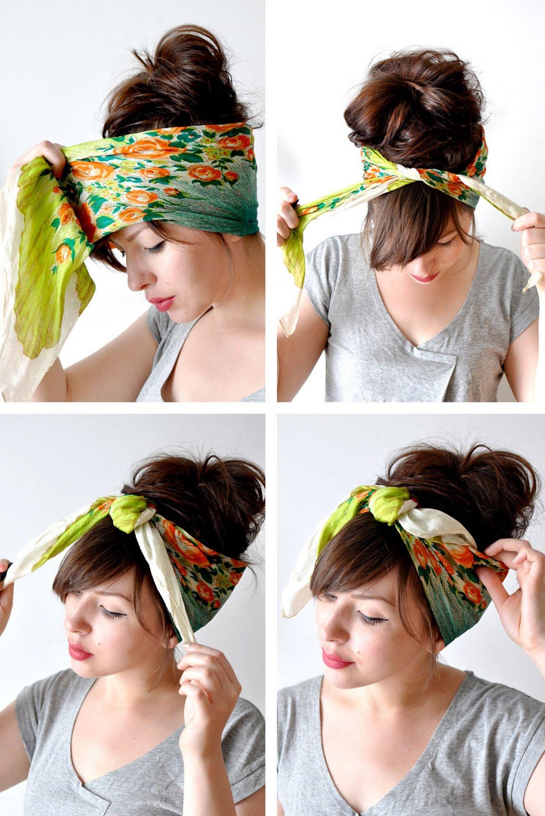 Как сделать прическу с шарфом