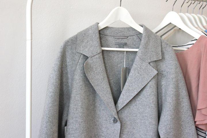 inspire me cosy new in grey cos wool coat. Black Bedroom Furniture Sets. Home Design Ideas