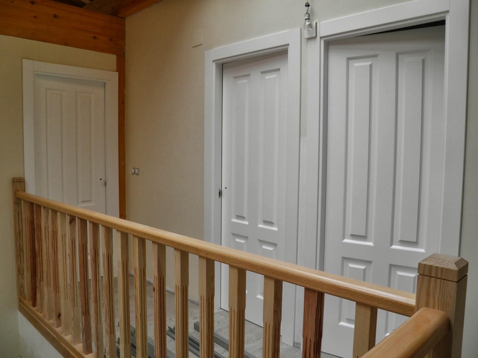 El peku la barandilla de la escalera - Casas de madera blancas ...
