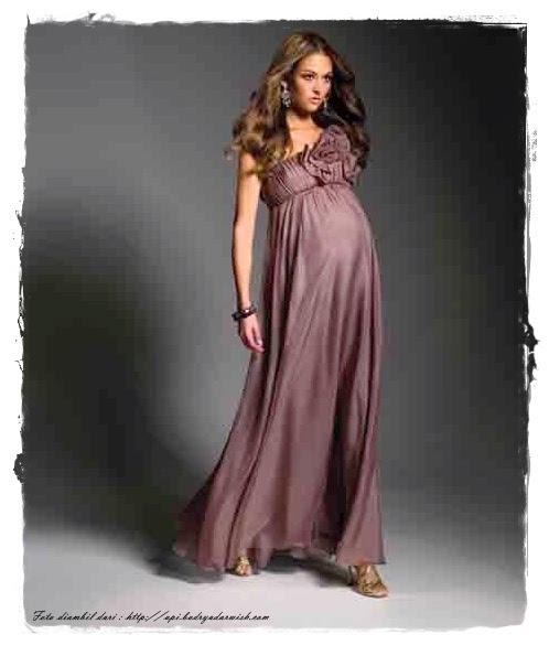 model baju pesta untuk ibu hamil