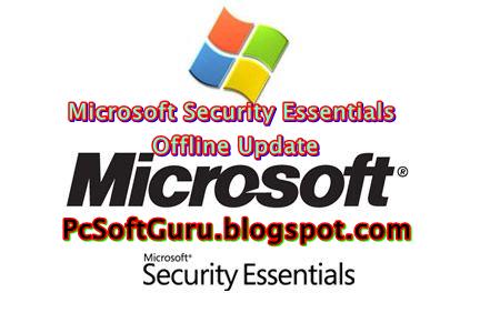 Microsoft Security Essentials Offline Update 1.159.1611.0