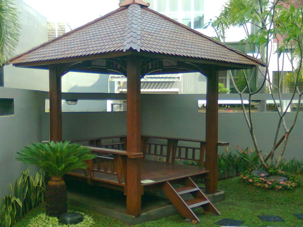 Desain Gazebo Minimalis Untuk Aksesoris Dekorasi Taman Rumah