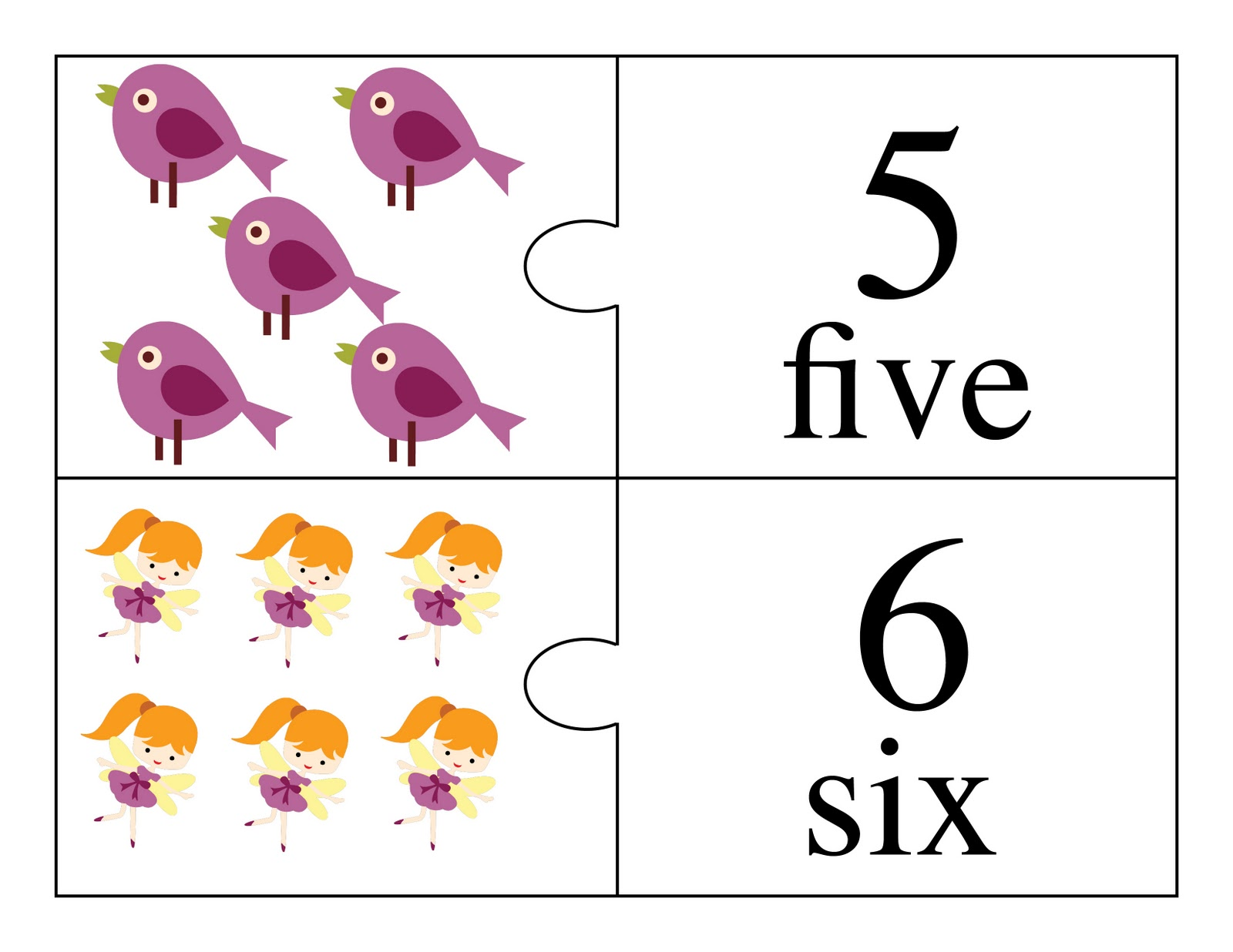 Fairy and Friends and Vehicle Counting Flash Cards and 2-Part ...