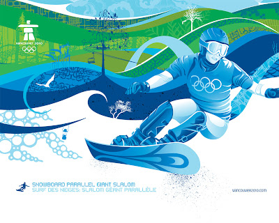 Free Vancouver 2010 Olympic Winter Games PowerPoint Background 3
