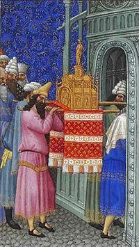 El Arca introduciéndose en el Templo.