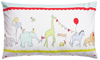 Kirstie Allsopp Circus Parade Cushion. A perfect room accessory for our Circus Parade Children's Bedding.