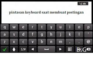Pintasan Keyboard pada Postingan Blog