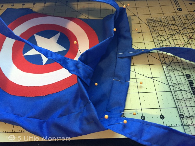 Captain America trick or treat bag, patterns for Thor and Black Widow too
