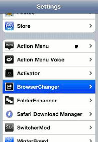 Cydia Open Default Browser Changer Option on iPhone