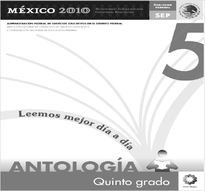 Antología de lecturas para Quinto Grado
