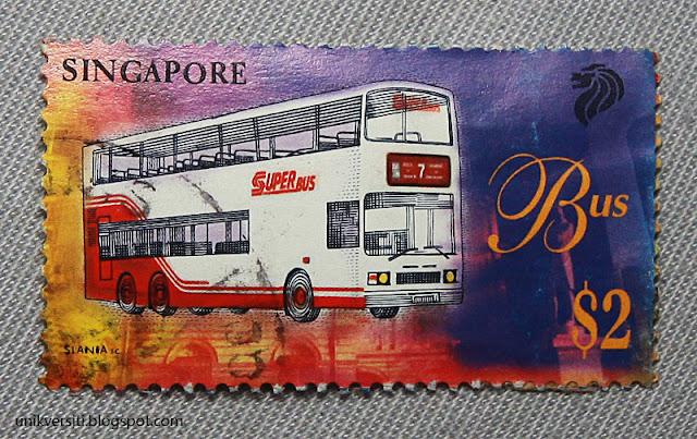 setem Singapura - singapore stamp