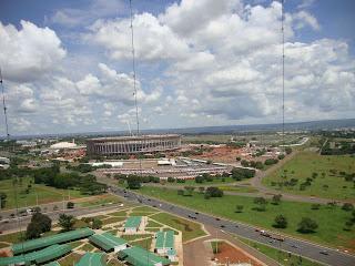 Estádio Mané Garricha em reforma - Brasília