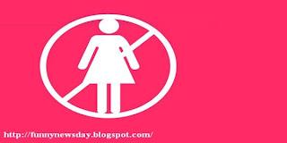 no woman لا للنساء لا للحريم لا للبنات لا لحواء