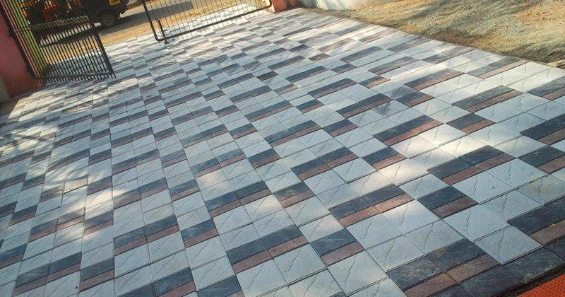Paving tiles kerala brick tiles kerala design price for Exterior floor tiles design kerala