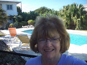 Very sunny out by the pool at