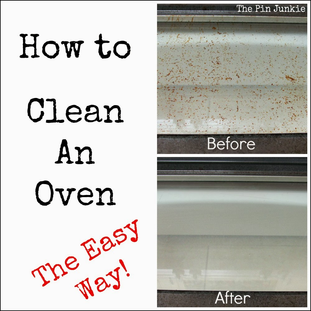 how to properly clean an oven
